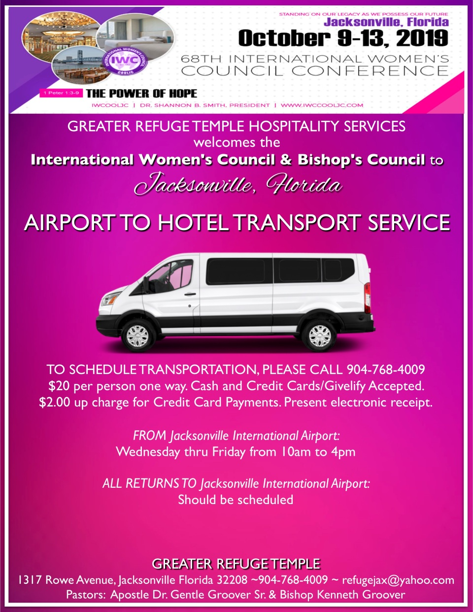 IWC flyer for transportation